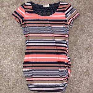 Ladies ruched mini dress